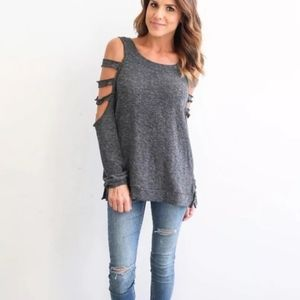 Tops - Long Sleeve Caged Cut Out Top